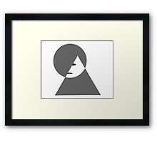Minimalist sad girl Framed Print