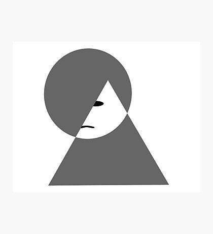 Minimalist sad girl Photographic Print