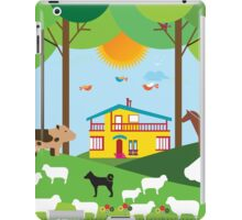 Farm in the forest iPad Case/Skin