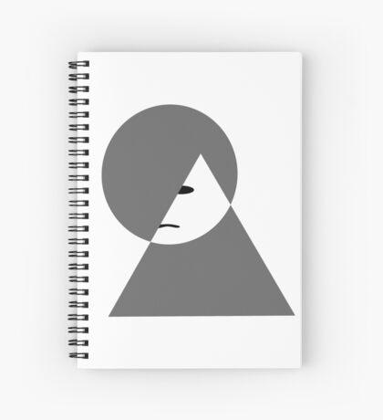 Minimalist sad girl Spiral Notebook