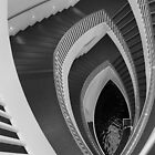 MCA Chicago Staircase, Chicago, Josef Paul Kleihues by Crystal Clyburn