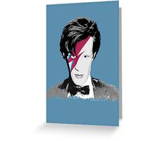 Doctor Who / Ziggy Stardust Greeting Card