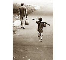 Boys & Sticks Photographic Print