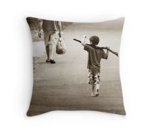 Boys & Sticks Throw Pillow