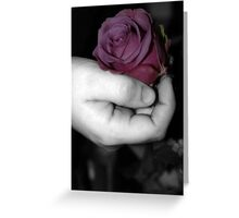 Tenderly Rose Greeting Card