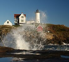 Surf's Up at Nubble by Robbin269135