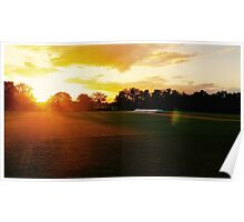 Wellington College Turf at Sunset Poster
