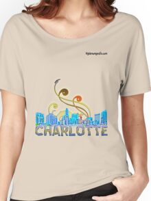 charlotte skyline panorama Women's Relaxed Fit T-Shirt
