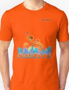 charlotte skyline panorama T-Shirt