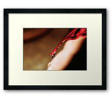 The droplet. Framed Print