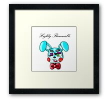 Flammable Toy Bonnie Framed Print