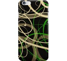 Swirls [green] iPhone Case/Skin
