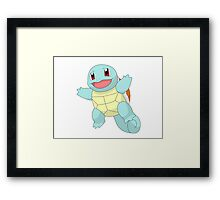 #07 Squirtle Pokemon Framed Print