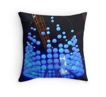 Blue Bubble Lights Throw Pillow