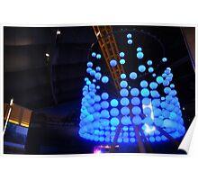 Blue Bubble Lights Poster