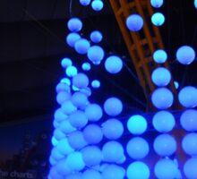 Blue Bubble Lights Sticker