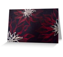 3 red & white Greeting Card