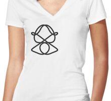 Celtic Geisha Women's Fitted V-Neck T-Shirt