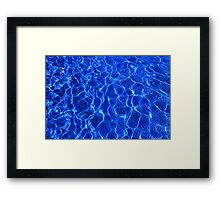 Water ripples and mozaic background Framed Print
