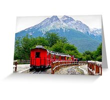 The End of the World Train Greeting Card