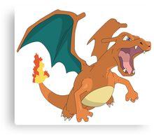 #06 Charizard Pokemon Canvas Print