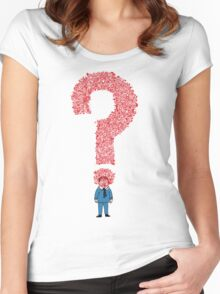 Question Boy Women's Fitted Scoop T-Shirt