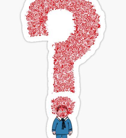 Question Boy Sticker