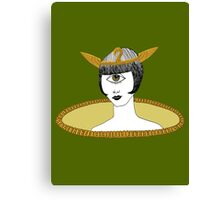 Cyclops Louise Brooks as Egyptian Valkyrie with All-Seeing Eye Canvas Print
