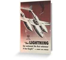 WWII Poster - P38 Lightning Greeting Card
