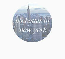 It's Better In New York Womens Fitted T-Shirt