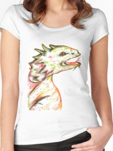Little Green Dragon Women's Fitted Scoop T-Shirt