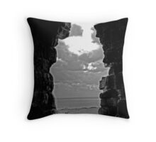 A View from Dunstanburgh Castle Throw Pillow