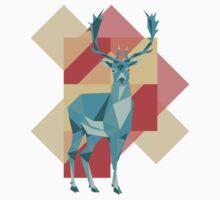 Origami deer One Piece - Short Sleeve