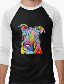 Dog color Men's Baseball ¾ T-Shirt