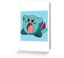 Totodile Kirby Greeting Card