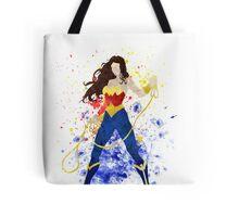 Superheroine Splatter Art Tote Bag
