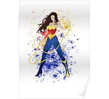 Superheroine Splatter Art Poster