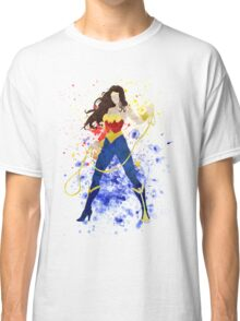 Superheroine Splatter Art Classic T-Shirt