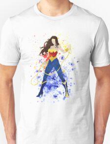 Superheroine Splatter Art T-Shirt