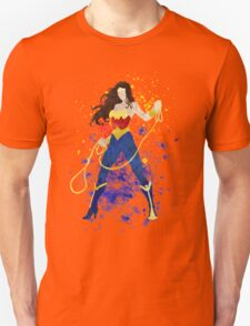 Superheroine Splatter Art Unisex T-Shirt