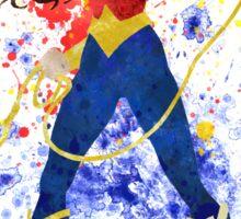Superheroine Splatter Art Sticker