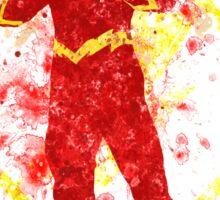 Superhero Splatter Art Sticker