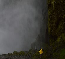 The Girl At Skógafoss by Chell Leck