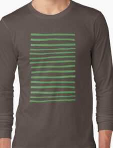 Simple Stripes - Fern Long Sleeve T-Shirt