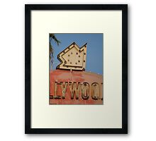 """Hollywood, This way!"" Framed Print"