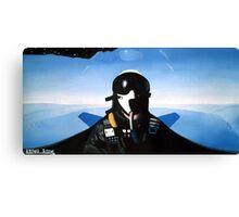 Current Altitude: Thirty Thousand Feet Canvas Print