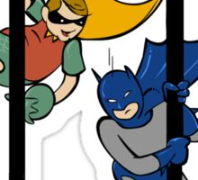 Man Bat and Red Boy Sticker