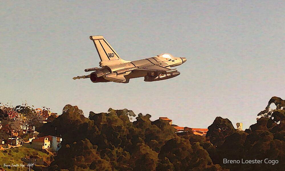 F-16C taking off, Brazil by Breno Loester Cogo