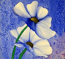 Cosmea Flower Painting by IrisHeuer