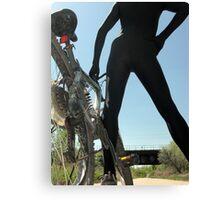 Black Zentai and Bike 5 Canvas Print
